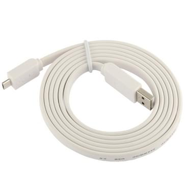 Noodle Style Micro 5 Pin USB Data Transfer / Charge Cable  Suitable for Galaxy S6 / S IV / i9500  HTC One / M7  Nokia Lumia 925 / 920 / 520  LG Optimus G Pro  Length: 1.5m(White)