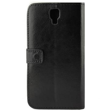 horizontaal flip lederen magnetische Buckle hoesje voor Samsung Galaxy Note 3 Neo / N7505(zwart)