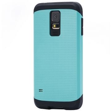 Harde Armor Mesh Plastic + TPU combinatie hoesje voor Samsung Galaxy S5 / G900 (Baby blauw)
