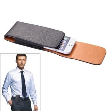 Litchi structuur Vertical Style Waist Bag voor iPhone 6 / Samsung Galaxy S4 / i9500