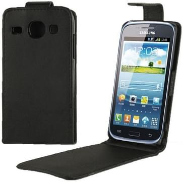 Vertical Flip Leather Case for Galaxy Express 2 / G3815 (Black)