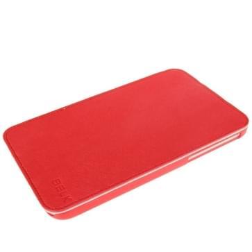 Belk Series Kruis structuur 3 vouws magnetische Flip lederen hoesje met slaap / wekker & houder functie voor Samsung Galaxy Tab 3 (7.0) / P3200 / P3210 (rood)