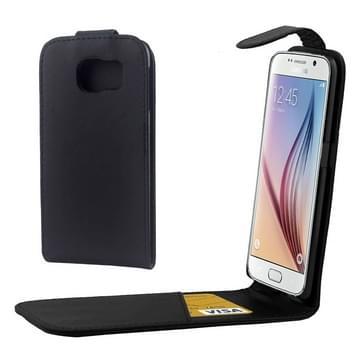 Kleurrijk Verticale Flip hoes met magnetische sluiting lederen hoesje voor Samsung Galaxy S6 / G920(zwart)