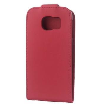 Kleurrijk Verticale Flip hoes met magnetische sluiting lederen hoesje voor Samsung Galaxy S6 / G920(rood)