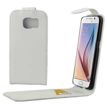 Kleurrijk Verticale Flip hoes met magnetische sluiting lederen hoesje voor Samsung Galaxy S6 / G920wit