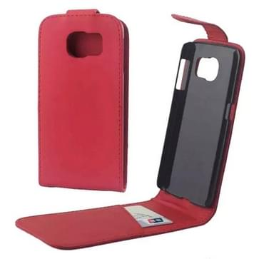 Vertical Flip Magnetic Snap lederen hoesje voor Samsung Galaxy S6 / G920(rood)