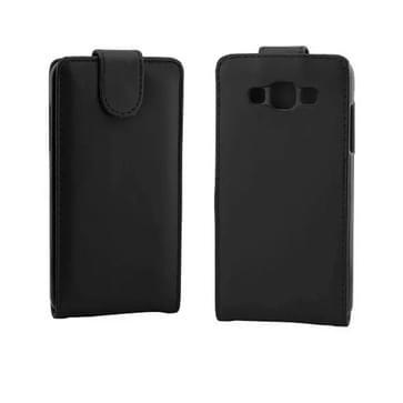 verticaal flip magnetische Snap lederen hoesje voor Samsung Galaxy Grand Max / G720no(zwart)
