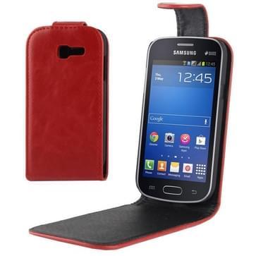 Vertical Flip lederen hoesje voor Samsung Galaxy Trend Lite / S7392(rood)