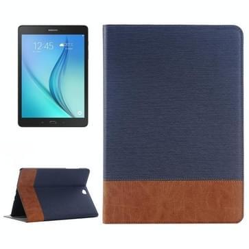 Samsung Galaxy Tab A 9.7 / T555 horizontaal Streep structuur PU leren Flip Hoesje met houder en opbergruimte voor pinpassen & geld (blauw)