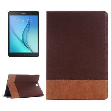 Samsung Galaxy Tab A 9.7 / T555 horizontaal Streep structuur PU leren Flip Hoesje met houder en opbergruimte voor pinpassen & geld (bruin)