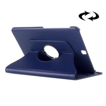 Samsung Galaxy Tab S2 9.7 horizontaal Litchi structuur PU leren Flip Hoesje met 360 graden draaiende houder (donker blauw)