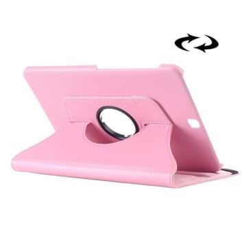 Samsung Galaxy Tab S2 9.7 horizontaal Litchi structuur PU leren Flip Hoesje met 360 graden draaiende houder (roze)
