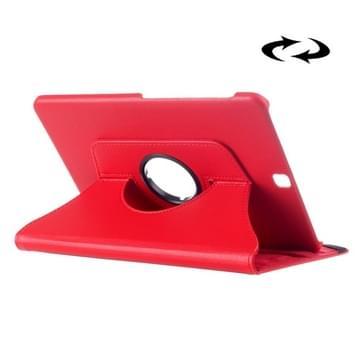 Samsung Galaxy Tab S2 9.7 horizontaal Litchi structuur PU leren Flip Hoesje met 360 graden draaiende houder (rood)