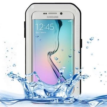 Samsung Galaxy S6 Edge ultra-dun compleet omhullend ultrarobuust regendicht Aluminium LOVE MEI Hoesje Wit