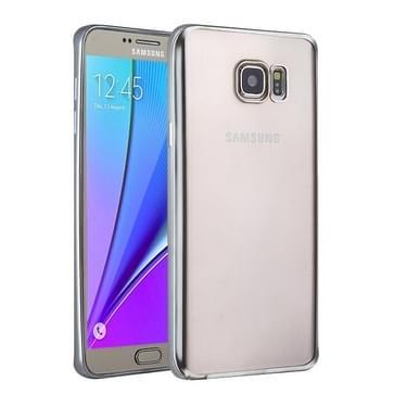 Samsung Galaxy Note 5 / N920 gegalvaniseerd TPU back cover Hoesje (zilverkleurig)