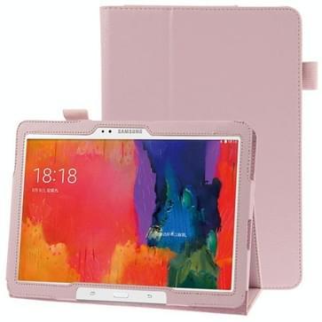 Litchi structuur lederen hoesje met houder voor Samsung Galaxy Tab Pro 10.1 / T520 (roze)