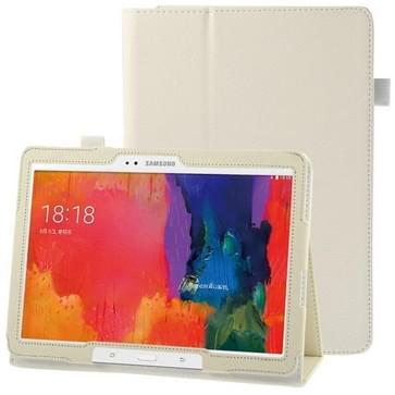 Litchi structuur lederen hoesje met houder voor Samsung Galaxy Tab Pro 10.1 / T520 wit