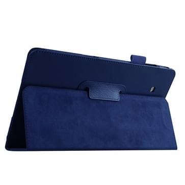 Samsung Galaxy Tab E 9.6 / T560 horizontaal Litchi structuur PU leren Flip Hoesje met houder (donker blauw)