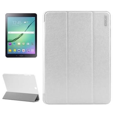 Samsung Galaxy Tab S2 9.7 / T815 horizontaal Zijde structuur PU leren ENKAY Flip Hoesje met drievouws houder en doorschijnend back cover Wit