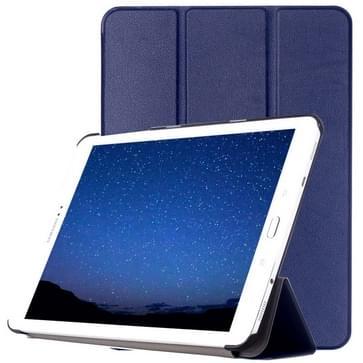Samsung Galaxy Tab S2 9.7 / T815 horizontaal PU leren Flip Hoesje met drievouws houder (donker blauw)