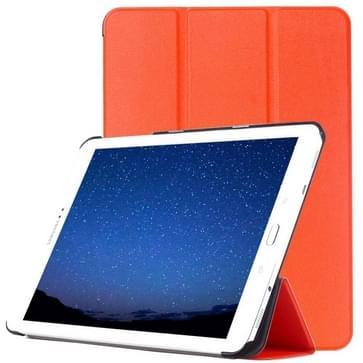 Samsung Galaxy Tab S2 9.7 / T815 horizontaal PU leren Flip Hoesje met drievouws houder (Oranje)