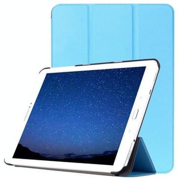 Samsung Galaxy Tab S2 9.7 / T815 horizontaal PU leren Flip Hoesje met drievouws houder (blauw)