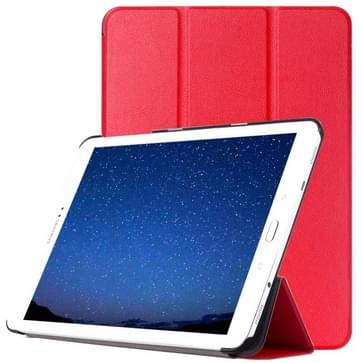 Samsung Galaxy Tab S2 9.7 / T815 horizontaal PU leren Flip Hoesje met drievouws houder (rood)