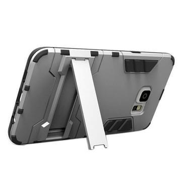 Samsung Galaxy S6 Edge+ Kunststof + TPU back cover Hoesje met houder (grijs)