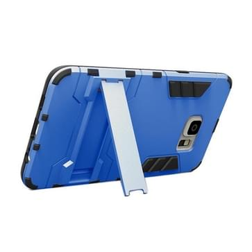 Samsung Galaxy S6 Edge+ Kunststof + TPU back cover Hoesje met houder (blauw)