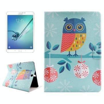Samsung Galaxy Tab S2 8.0 / T715 horizontaal Kerst uil patroon PU leren Flip Hoesje met houder en opbergruimte voor pinpassen