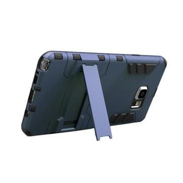 Samsung Galaxy Note 5 / N920 robuust schokbestendig TPU + kunststof back cover Hoesje met houder (Marine blauw)