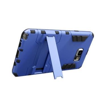 Samsung Galaxy Note 5 / N920 robuust schokbestendig TPU + kunststof back cover Hoesje met houder (blauw)