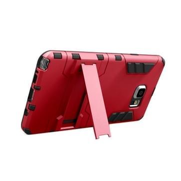 Samsung Galaxy Note 5 / N920 robuust schokbestendig TPU + kunststof back cover Hoesje met houder (rood)