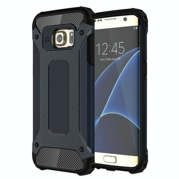 Voor Samsung Galaxy S7 Edge / G935 hard Armor TPU + PC combinatie hoesje (donker blauw)