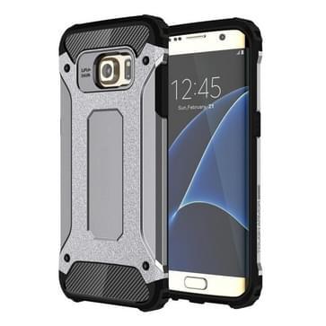Voor Samsung Galaxy S7 Edge / G935 hard Armor TPU + PC combinatie hoesje (grijs)