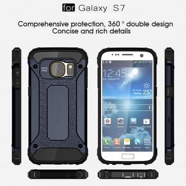 Voor Samsung Galaxy S7 / G930 hard Armor TPU + PC combinatie hoesje (donker blauw)