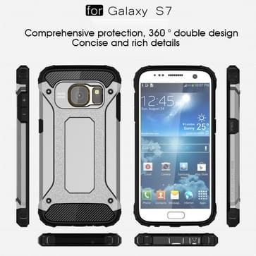 Voor Samsung Galaxy S7 / G930 hard Armor TPU + PC combinatie hoesje (grijs)