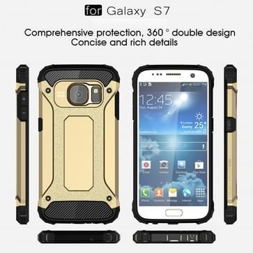 Voor Samsung Galaxy S7 / G930 hard Armor TPU + PC combinatie hoesje (Goud)