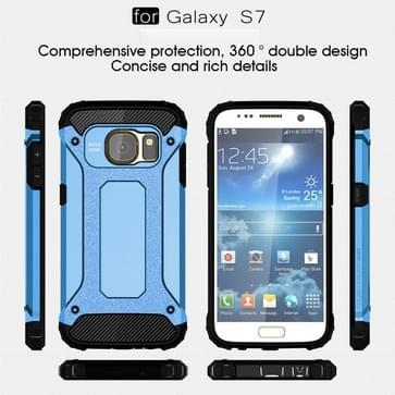 ToVoor Samsung Galaxy S7 / G930 hard Armor TPU + PC combinatie hoesje (blauw)