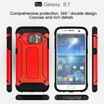 Voor Samsung Galaxy S7 / G930 hard Armor TPU + PC combinatie hoesje (rood)