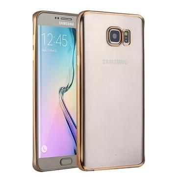 Samsung Galaxy S6 Edge / G925 gegalvaniseerd TPU back cover Hoesje (goudkleurig)