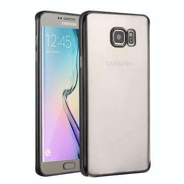 Samsung Galaxy S6 Edge + / G928 gegalvaniseerd TPU back cover Hoesje (zwart)