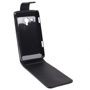 Vertical Flip Leather Case for Samsung Omnia M / S7530  Black