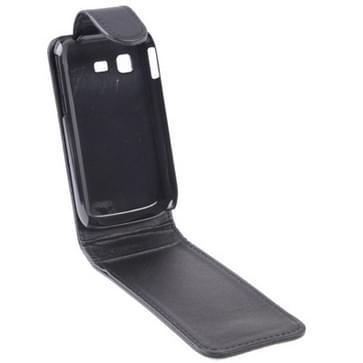 Verticale Flip lederen hoesje voor Samsung Galaxy Poket / S5300, zwart