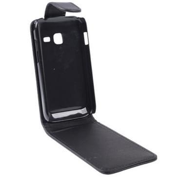 Verticale Flip lederen hoesje voor Samsung Galaxy Ace Duos S6802, zwart
