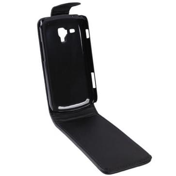 Vertical Flip Leather Case for Galaxy Trend Duos / S7562(Black)