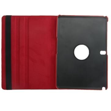 360 graden draaiend Litchi structuur lederen hoesje met houder voor Samsung Galaxy Tab Pro 10.1 / T520 (Scarlet rood)