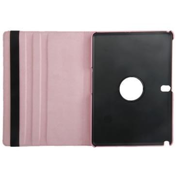 360 graden draaiend Litchi structuur lederen hoesje met houder voor Samsung Galaxy Tab Pro 10.1 / T520 (roze)