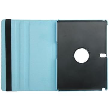 360 graden draaiend Litchi structuur lederen hoesje met houder voor Samsung Galaxy Tab Pro 10.1 / T520(Baby blauw)