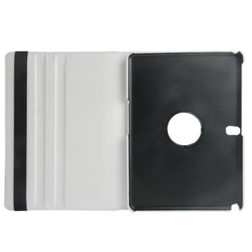 360 Degree Rotatable Litchi Texture Leather Case with 2-angle Viewing Holder for Galaxy Tab Pro 10.1 / T520(White)